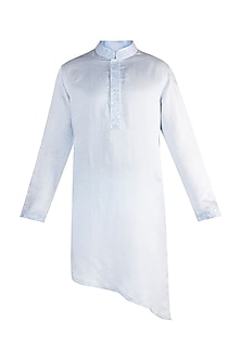 Powder Blue Resham Embroidered Kurta by More Mischief