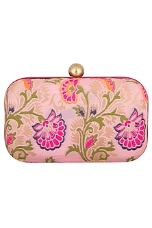 Pink Floral Sling Clutch by MKNY