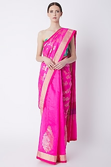 Pink Foil Printed Saree Set by Masaba-SHOP BY STYLE