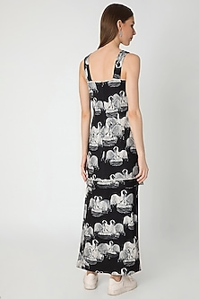 Black & Ivory Digital Printed Dress With Bag by Masaba