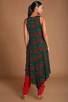 Green Printed Tunic With Dhoti by Masaba