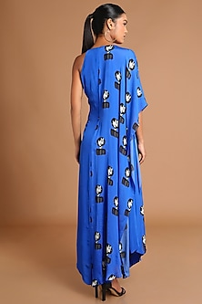 Electric Blue Printed Cape Tunic by Masaba