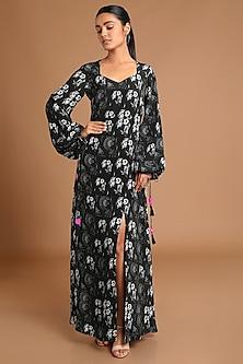 Black Printed Maxi Dress by Masaba
