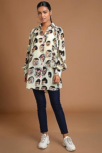 Nude Digital Printed Shirt by Masaba