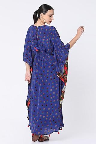 Blue Printed Kaftan by Masaba