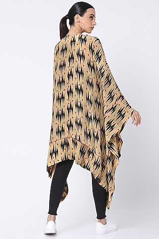 Beige Printed Jacket by Masaba