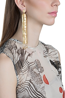 Gold Finish Tale Of Seven Kingdoms Earrings by Masaba X GOT