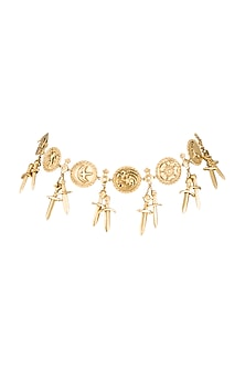 Gold Finish Seven Kingdoms Choker Necklace by Masaba X GOT