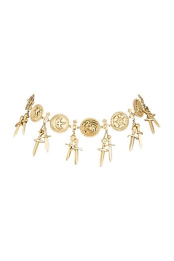 Gold Finish Seven Kingdoms Choker Necklace by Masaba X GOT