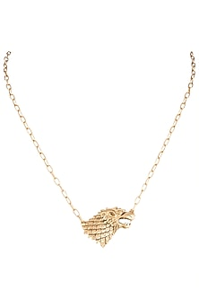 Gold Finish Rise Of The Lone Wolf Chain Necklace by Masaba X GOT