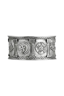 Silver Finish Sigil Storm Cuff by Masaba X GOT