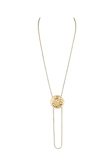 Gold Finish House Of Stark Adjustable Chain Necklace by Masaba X GOT