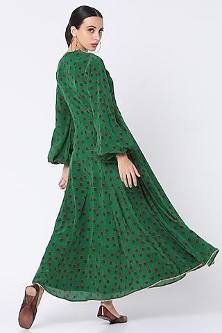Green Lotus In The Pond Kurta Dress by Masaba