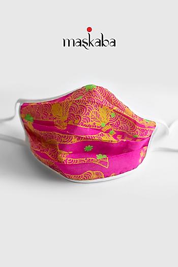 Pink Printed Reusable Mask by Masaba