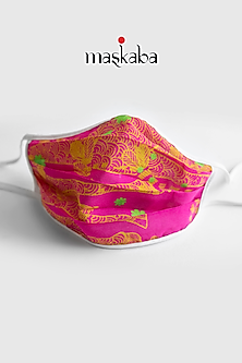 Pink Printed Reusable Mask by Masaba