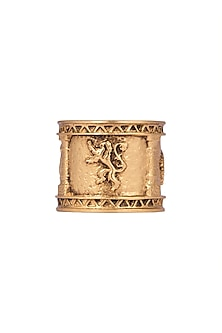Gold Finish Sigil Storm Ring by Masaba X GOT