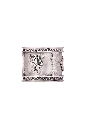 Silver Finish Sigil Storm Ring by Masaba X GOT