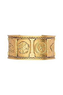 Gold Finish Sigil Storm Cuff by Masaba X GOT