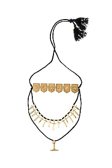 Gold Finish Tales Of Seven Kingdoms Layered Necklace by Masaba X GOT