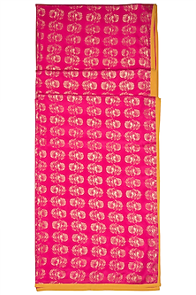 Pink Leaf Printed Scarf by Masaba