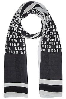 Black Mess Stole Scarf by Masaba