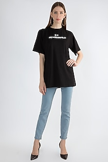 Black Printed T-shirt by Masaba