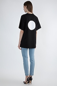 Black Printed T-shirt by Masaba