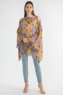 Yellow Digital Printed Top by Masaba