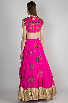 Pink Embroidered Lehenga Set by Masaba