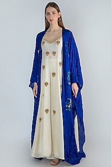 Ivory Embroidered Tunic With Cape & Pants by Masaba