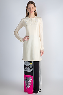 Ivory Embroidered Tunic With Pants by Masaba