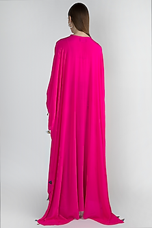 Pink Embroidered Kaftan With Pants by Masaba