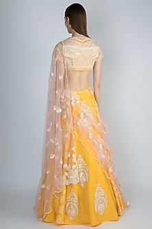 Yellow Embroidered Lehenga Set by Masaba