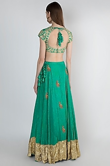 Green Embroidered Lehenga Set by Masaba