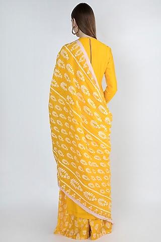 Yellow Embroidered Kurta Set by Masaba
