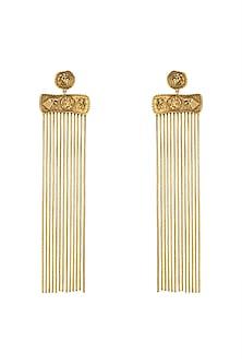 Gold Finish Kingdom Of Westeros Motif Earrings by Masaba X GOT