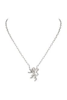 Silver Finish House of Lannister Chain Necklace by Masaba X GOT
