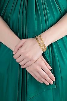 Gold Finish Seven Kingdoms Bracelet by Masaba X GOT