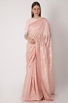 Light Pink Printed Saree Set by Masaba