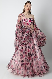 Pink Rose Printed Lehenga Set by Masaba X Rhea Kapoor