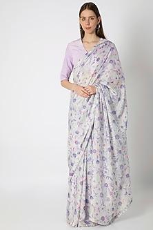 Lilac Printed Saree Set by Masaba X Rhea Kapoor