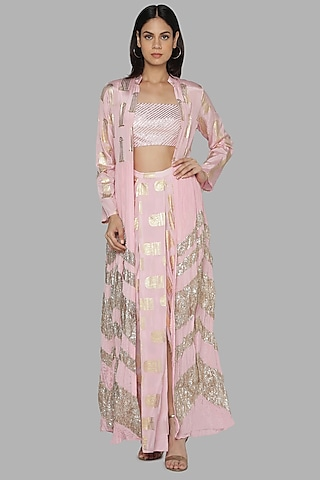 Pink Embroidered Cape Set by Masaba