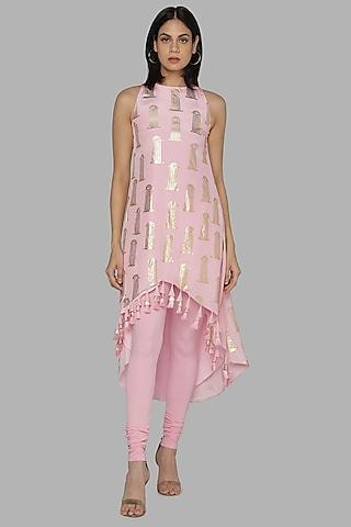 Pink Printed Tunic Set by Masaba