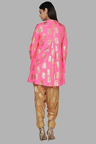 Hot Pink & Beige Tunic Set by Masaba