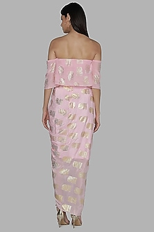 Pink Top With Dhoti Skirt by Masaba