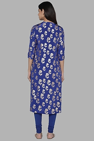 Blue Foil Printed Tunic by Masaba