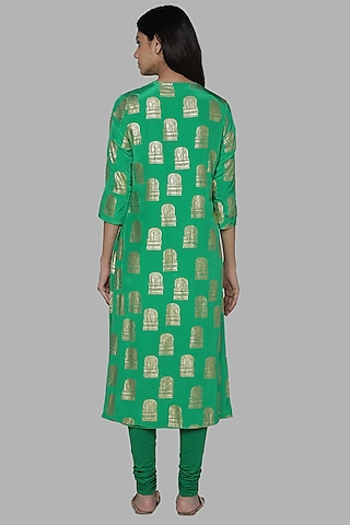 Green Foil Printed Tunic by Masaba