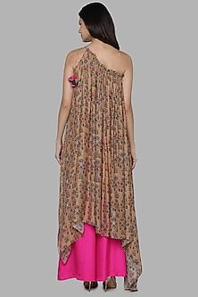 Beige & Pink Printed Tunic Set by Masaba