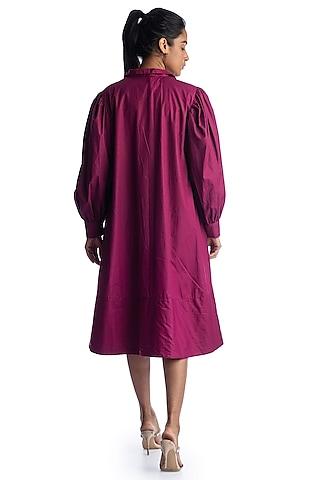 Magenta Pink Bustier Dress by Studio Moda India