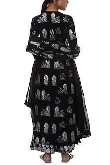 Black printed kurta set by Masaba
